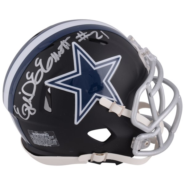 Autographed Dallas Cowboys Ezekiel Elliott Fanatics Authentic Riddell Black Matte Alternate Speed Mini Helmet