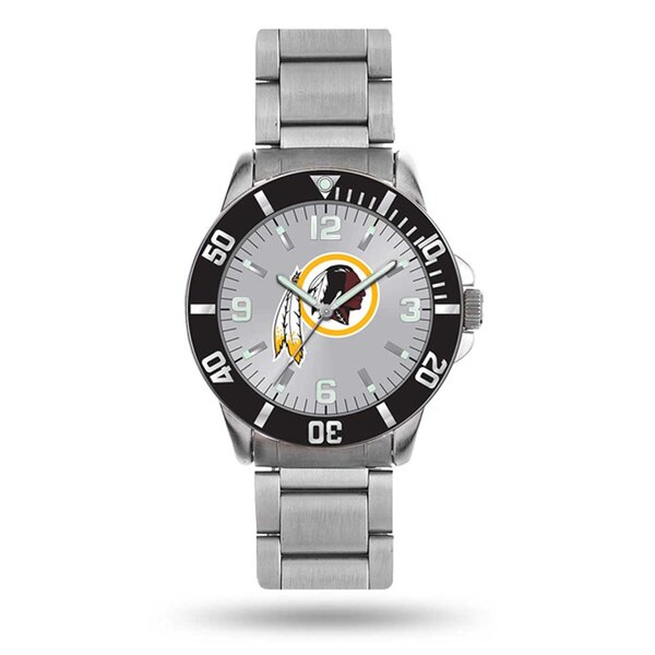 Men's Washington Redskins Sparo Silver Personalized Key Bracelet Quartz Watch