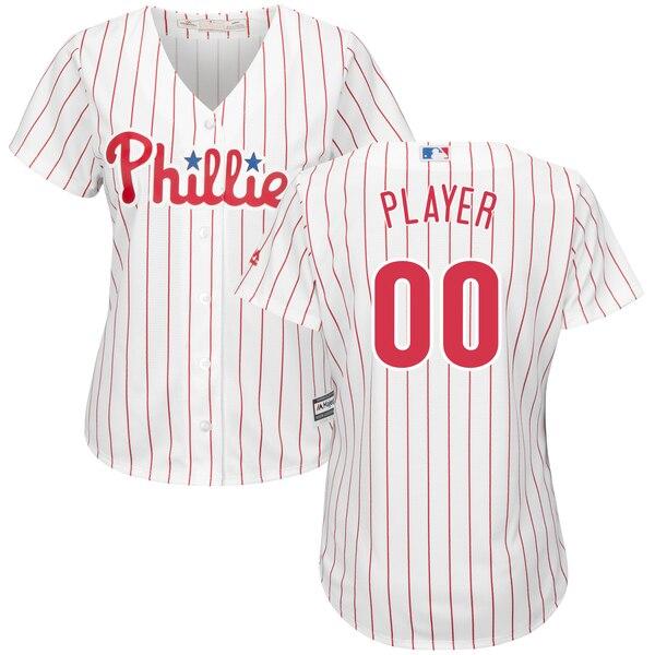 Women's Philadelphia Phillies Majestic White/Scarl wholesale Cubs jersey Reebok