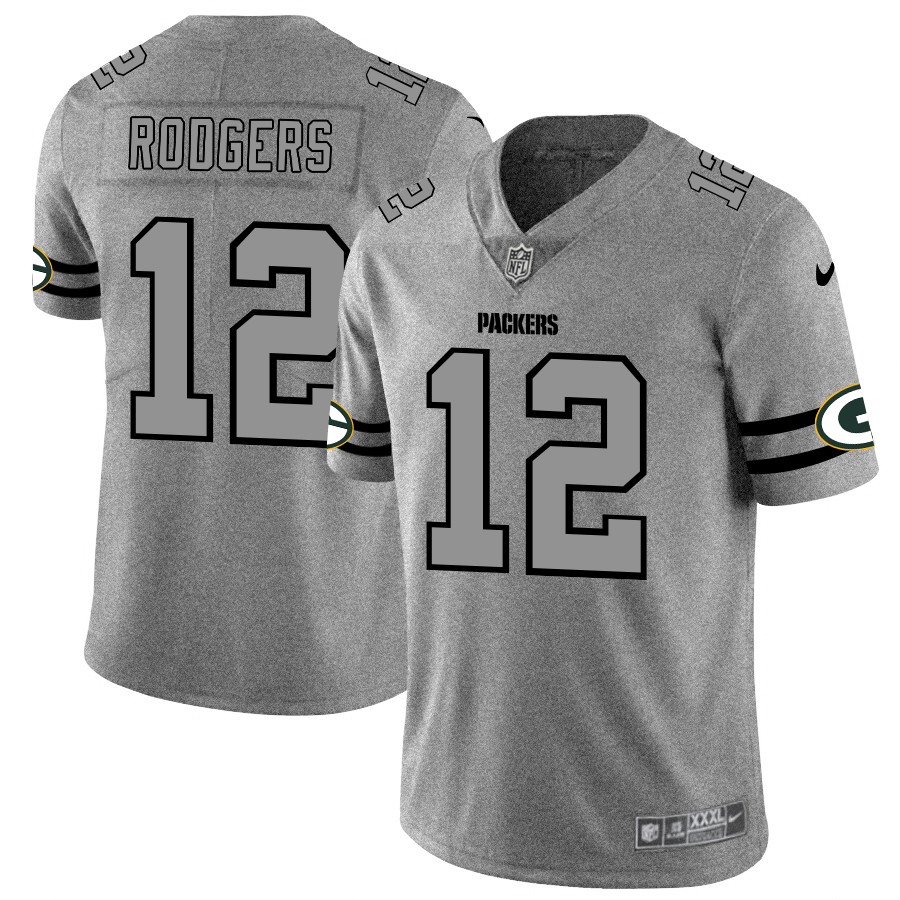 Green Bay Packers #12 Aaron Rodgers Men's Nike Gra cheap stitched jerseys online