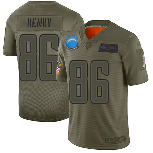 Nike Chargers #86 Hunter Henry Camo Youth Stitched best time to buy nba jersey